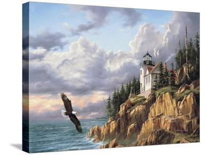 Bass Harbor Head Lighthouse-Rudi Reichardt-Stretched Canvas Print