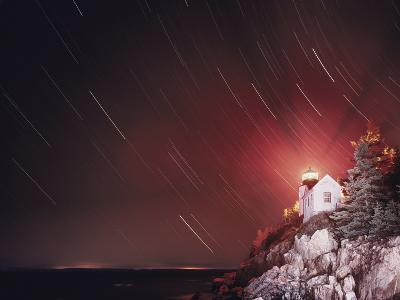 Bass Harbor Lighthouse and Stars-Moises Levy-Photographic Print