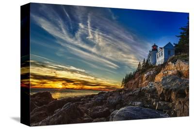 Bass Harbor Lighthouse-Robert Lott-Stretched Canvas Print