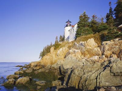 Bass Harbour Lighthouse, Acadia National Park, Maine, New England, USA-Roy Rainford-Photographic Print