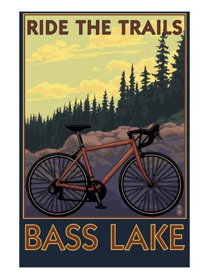 Bass Lake, California - Ride the Trails, c.2008-Lantern Press-Art Print
