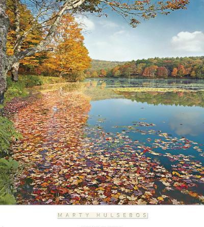 Bass Lake In Autumn II-Marty Hulsebos-Art Print