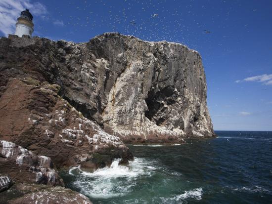 Bass Rock, Firth of Forth, Scotland, United Kingdom, Europe-Toon Ann & Steve-Photographic Print