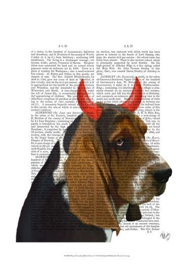 Basset Hound and Devil Horns-Fab Funky-Art Print