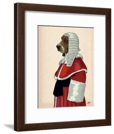 Basset Hound Judge Portrait-Fab Funky-Framed Art Print