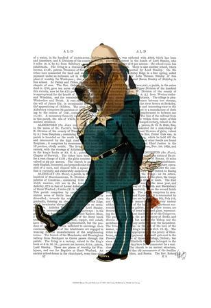 Basset Hound Policeman-Fab Funky-Art Print