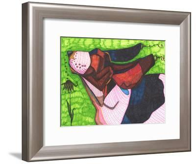 Basset Hound-Solveig Studio-Framed Art Print