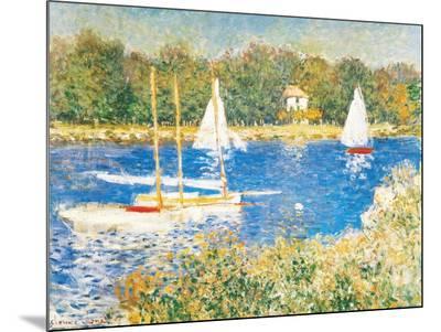Bassin d'Argenteuil, c.1874-Claude Monet-Mounted Print