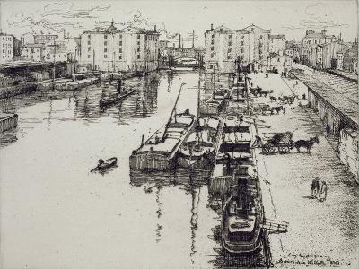 Bassin de La Villette, c.1903-Eugene Bejot-Giclee Print