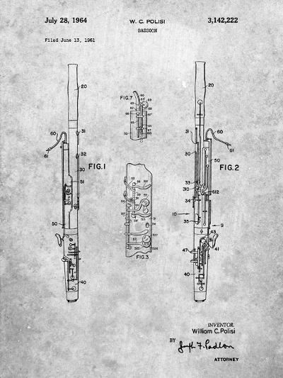 Bassoon Patent-Cole Borders-Art Print