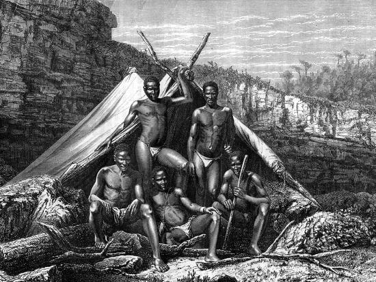 Bassoutos, South Africa, 19th Century- St de Dree-Giclee Print