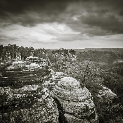 Bastei, Saxon Switzerland National Park, Saxony, Germany-Jon Arnold-Photographic Print
