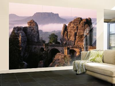 Bastei, Saxonian Switzerland National Park, Germany--Wall Mural – Large