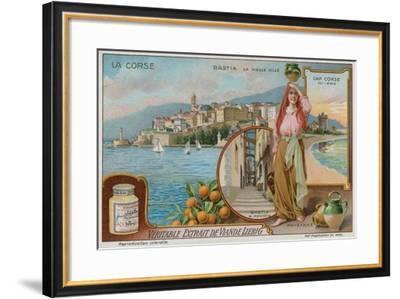 Bastia, Cap Corso and a Peasant Girl--Framed Giclee Print