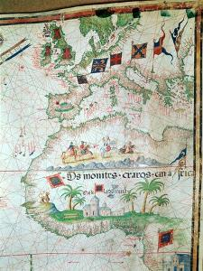 Map by Bastian Lopez Showing Europe, the British Isles and Part of Africa, Portuguese, 1558 by Bastiaim Lopez