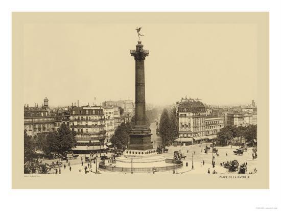 Bastille Place, July Column-Helio E. Ledeley-Art Print