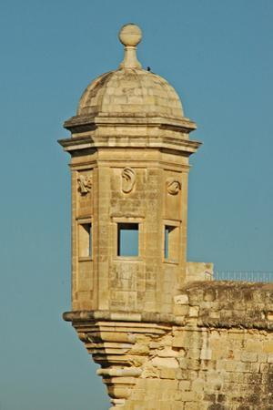 Bastion Tower Showing the 'Eye and Ear of God', Valletta