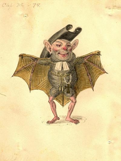 Bat 1873 'Missing Links' Parade Costume Design-Charles Briton-Giclee Print
