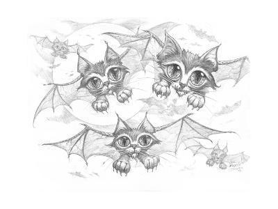 Bat Cats Pencil-Jeff Haynie-Giclee Print