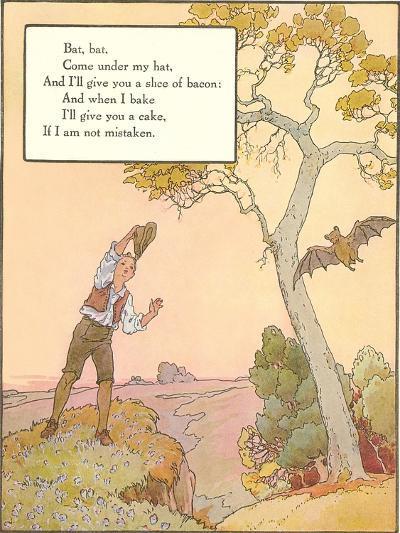 Bat Poem--Art Print