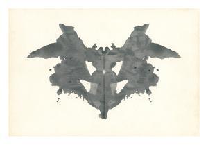 Bat Rorschach Test in Black