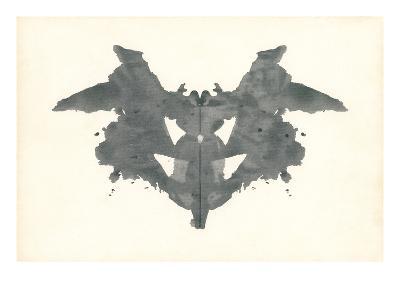 Bat Rorschach Test in Black--Art Print