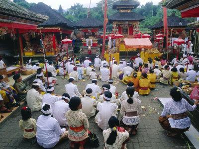 Batara Turum Kabeh Ceremony, Hindu Temple of Besakih, Bali, Indonsesia-J P De Manne-Photographic Print