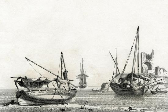 Bateau Genois Tire a Terre, Bateau Corse-Jean Jerome Baugean-Giclee Print