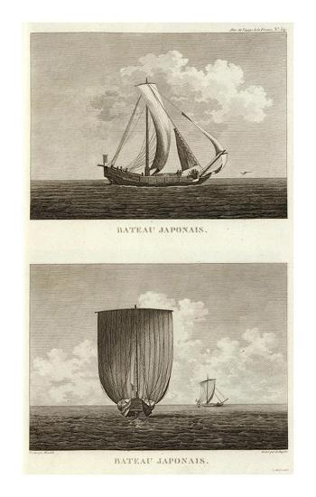Bateau Japonais, c.1797-Lieutenant Blondela-Art Print