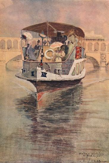 Bateau-Parisien at the Point Du Jour, 1915-Charles Jouas-Giclee Print