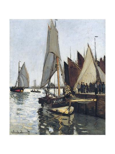 Bateaux a Honfleur (Study for Le Port De Honfleur)-Claude Monet-Giclee Print