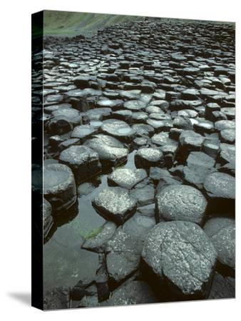 The Giant's Causeway Rock Formation of Volcanic Basalt Rock