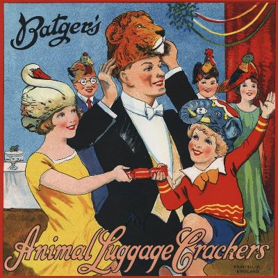 Batger's Animal Luggage Crackers--Photographic Print
