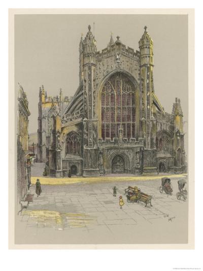 Bath Abbey-Cecil Aldin-Giclee Print