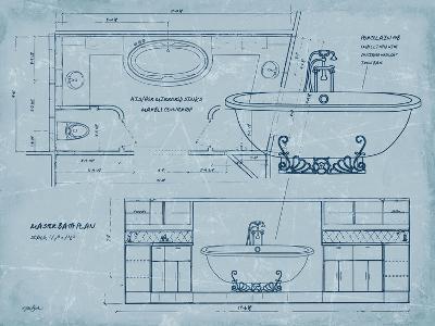 Bath Blueprint 2-Diane Stimson-Art Print