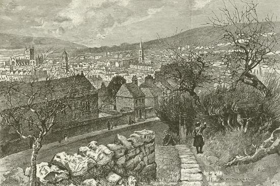 Bath, from Beechen Cliff--Giclee Print