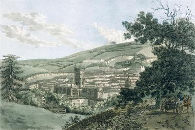 Bath, from the Private Road Leading to Prior Park, from 'A Picturesque Guide to Bath, Bristol…- J. Hassell and J.C. Ibbetson-Giclee Print