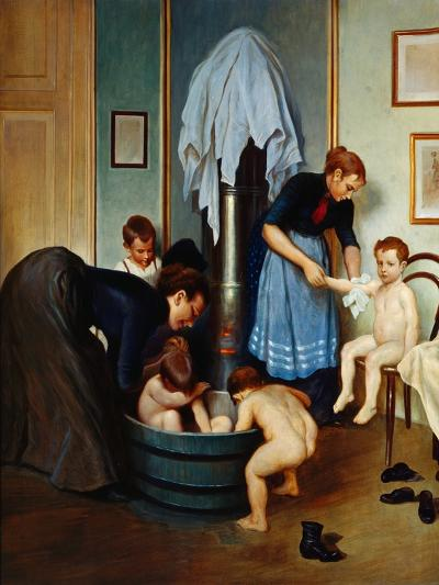 Bath in a Working Household (Children in the Tub), C.1900--Giclee Print