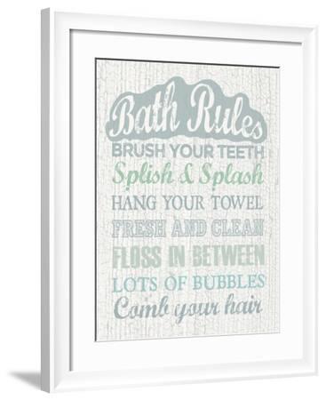Bath Rules-Erin Clark-Framed Giclee Print