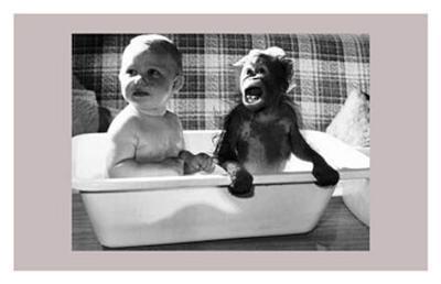 Bath With a Little Friend--Art Print