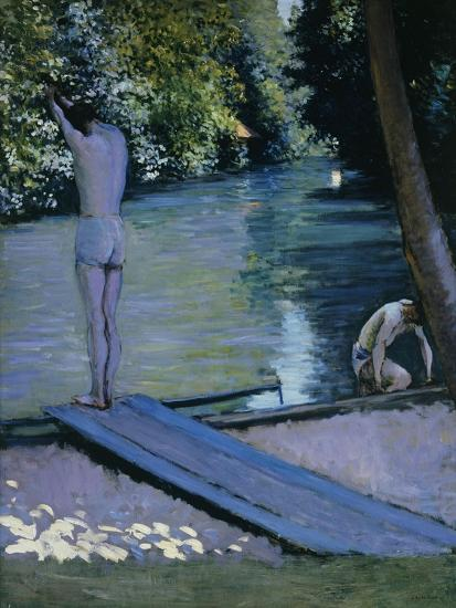 Bather About to Plunge Into the River Lyrres-Gustave Caillebotte-Giclee Print