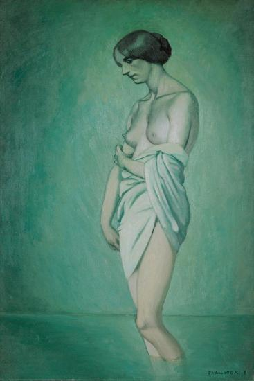 Bather in Profile, Effect of Green and Pink, 1918-F?lix Vallotton-Giclee Print