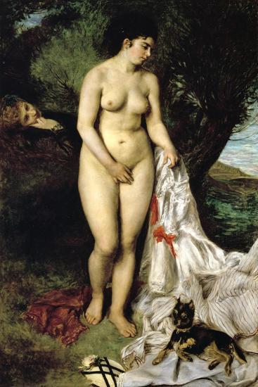 Bather (La Baigneuse Au Griffon), 1870-Pierre-Auguste Renoir-Giclee Print