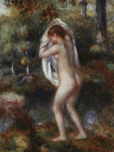 Bather Undressing, 1897-Pierre-Auguste Renoir-Giclee Print