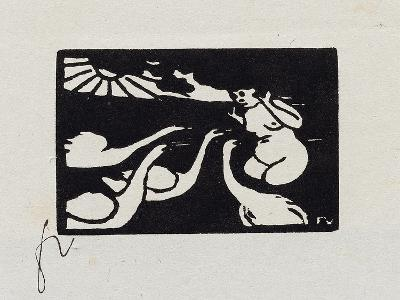 Bather with Swans, X from 'Les Petites Baigneuses', 1893-F?lix Vallotton-Giclee Print