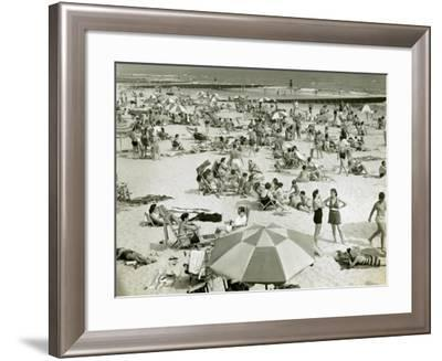 Bathers at the Beach-George Marks-Framed Photographic Print