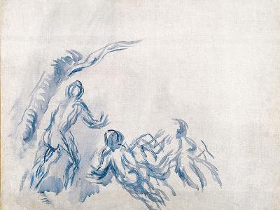 Bathers (Baigneuse), 1904-1906-Paul C?zanne-Giclee Print