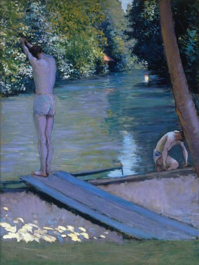 Bathers on the Banks of the River Yerres-Gustave Caillebotte-Giclee Print