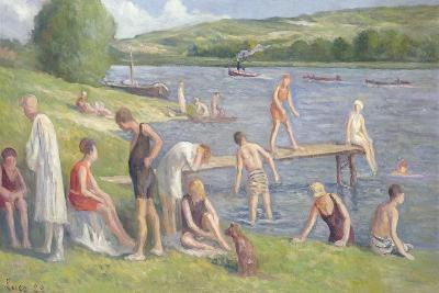 Bathers on the Banks of the Seine-Maximilien Luce-Giclee Print
