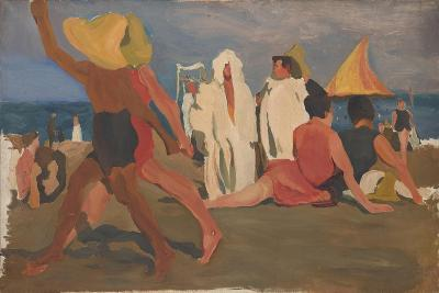 Bathers on the Lido, Venice (Serge Diaghilev and Vaslav Nijinsky on the Beac)-L?on Bakst-Giclee Print
